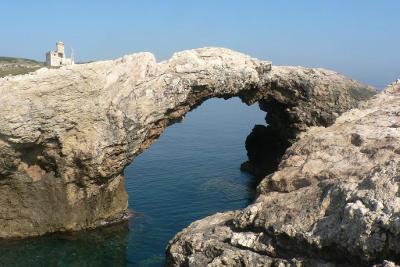 Architiello isola di Capraia alle Tremiti in Puglia.