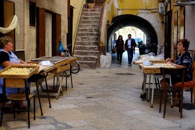 Il centro storico di Bari in Puglia.