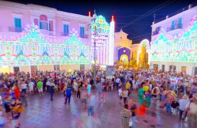 Festa patronale a Fasano, in Puglia.