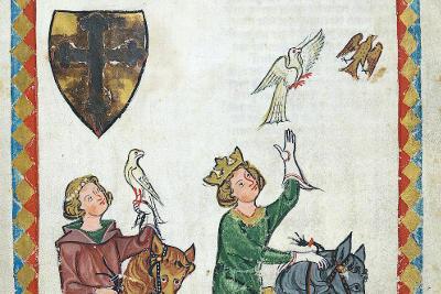 Federico II in una illustrazione antica.