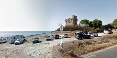 La Torre Sabea sulla costa di Rivabella a Gallipoli, nel Salento.
