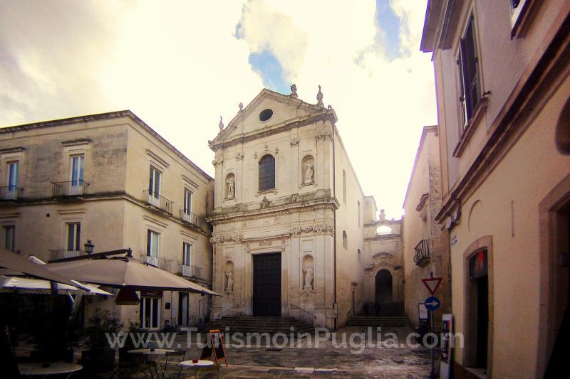 La Chiesa e l'ex Conservatorio di Sant'Anna a Lecce.