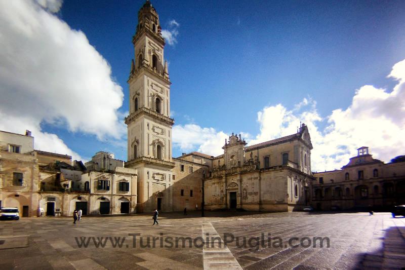 Piazza Duomo a Lecce in Puglia.