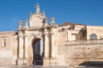 Porta Rudiae a Lecce, nel centro storico.
