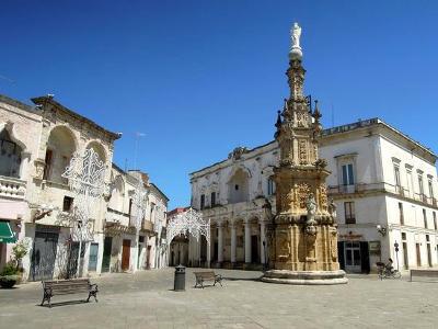 Piazza Salandra a Nardò, provincia di Lecce.