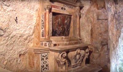 La cripta nel santuario di Sant'Oronzo a Ostuni.