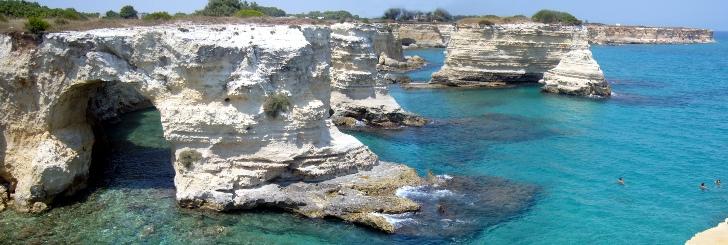 Il mare del Salento, in Puglia.