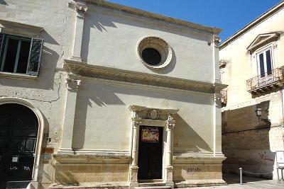 La piccola chiesa di Santa Elisabetta nel centro di Lecce.