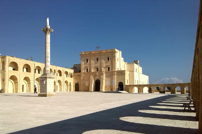 La basilica, ex Santuario, di Santa Maria di Leuca dedicata alla Madonna de finibus terrae.