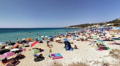 Spiaggia di Lido Conchiglie vicino Gallipoli.