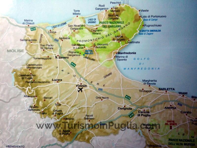Cartina del Tavoliere delle Puglie, mappa.