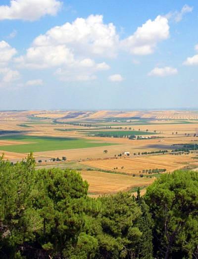 Il Tavoliere in Puglia visto da Lucera.